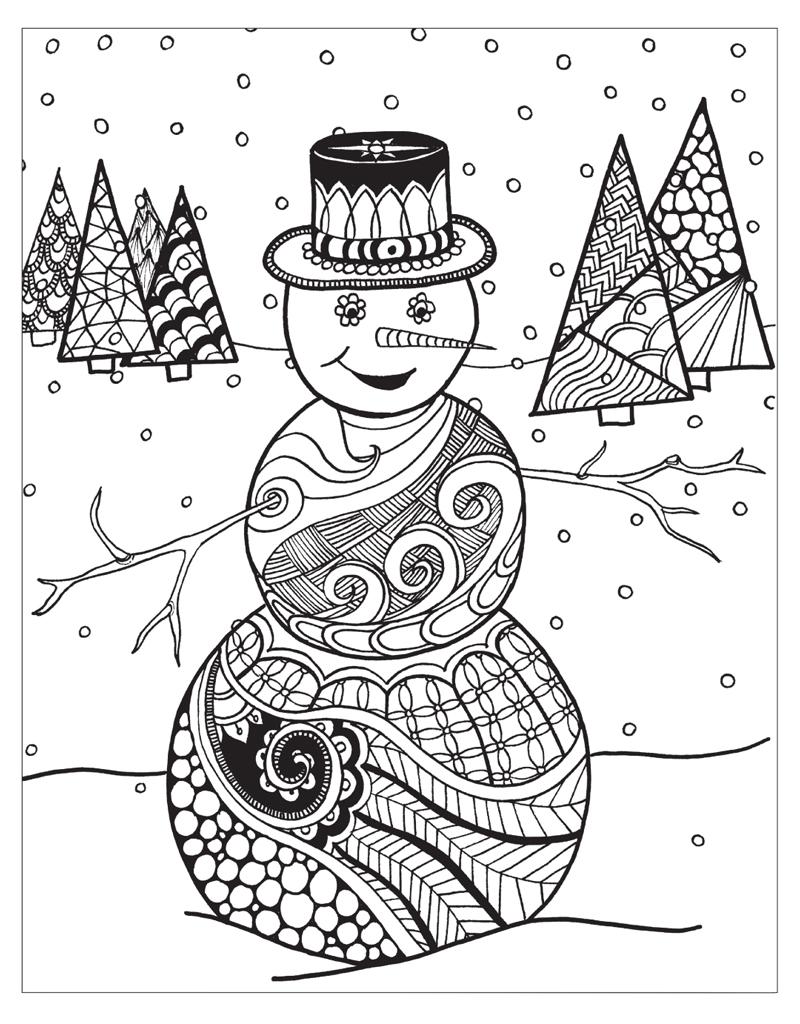 Zendoodle coloring winter wonderland jodi best macmillan for Zendoodle coloring pages