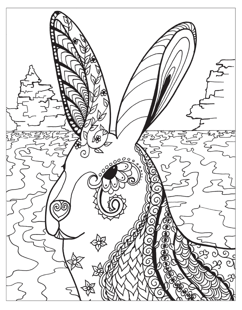 Zendoodle Animal Coloring Pages For Adults Coloring Pages