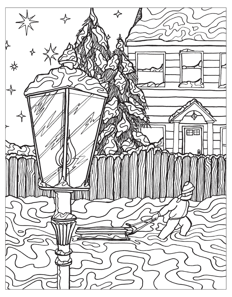 free coloring pages winter wonderland - photo#25