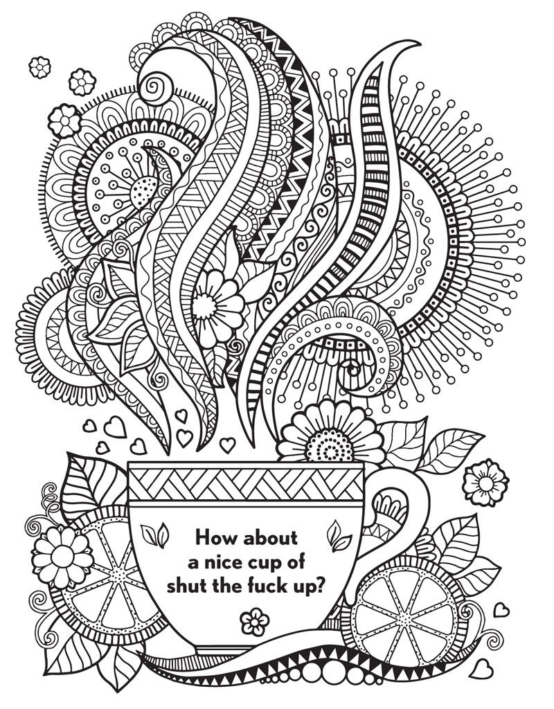 Coloring Pages For Adults Cuss Words : Curse word coloring pages just colorings