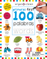 Wipe Clean: First 100 Words Bilingual (Spanish/English)